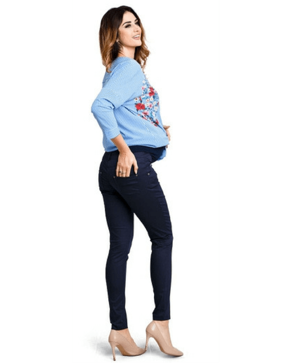 Pantaloni gravide Candy Navy Mama Boutique - 2