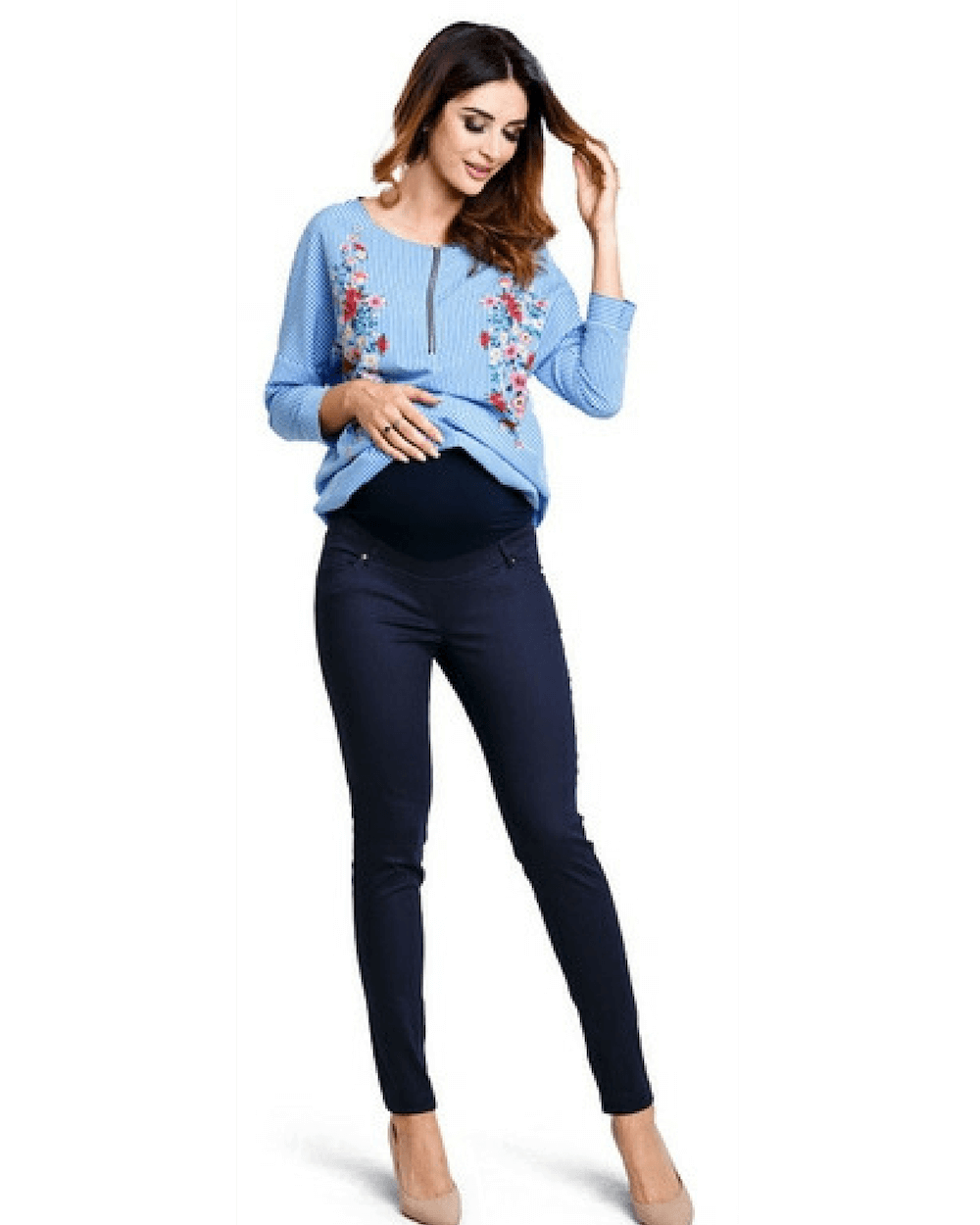 Pantaloni gravide Candy Navy Mama Boutique - 3
