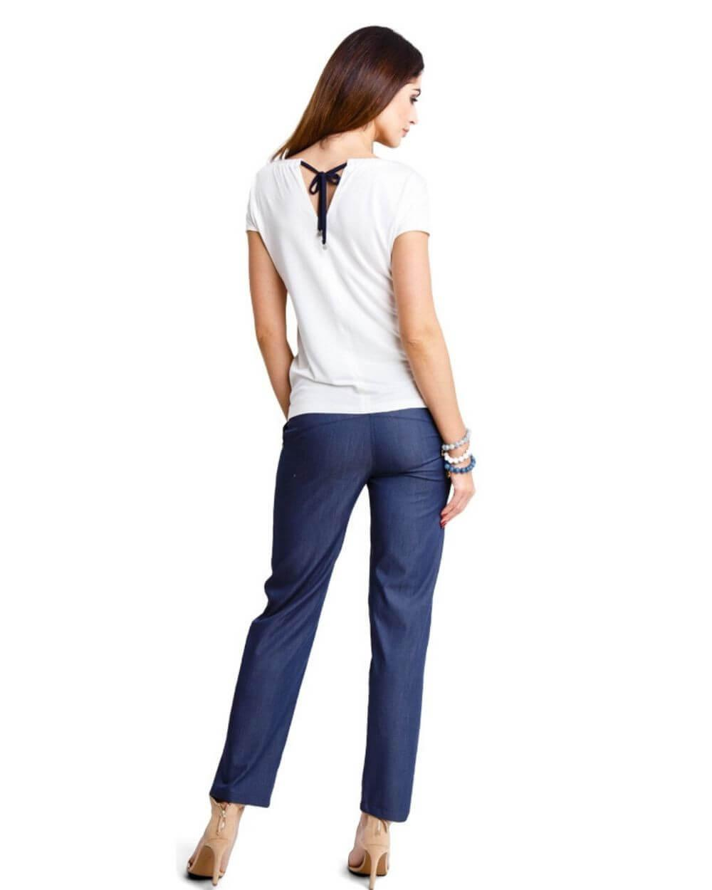 Pantaloni Ginger bleumarin L Bleumarin