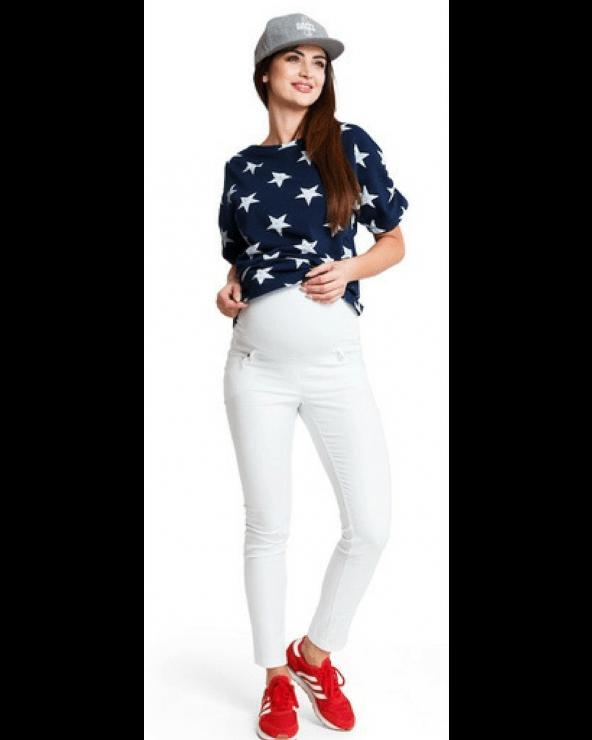 Pantaloni gravide Candy White Mama Boutique - 1