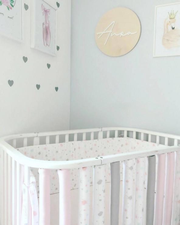 Protectii inteligente patut bebe Aura&Grey&Pink