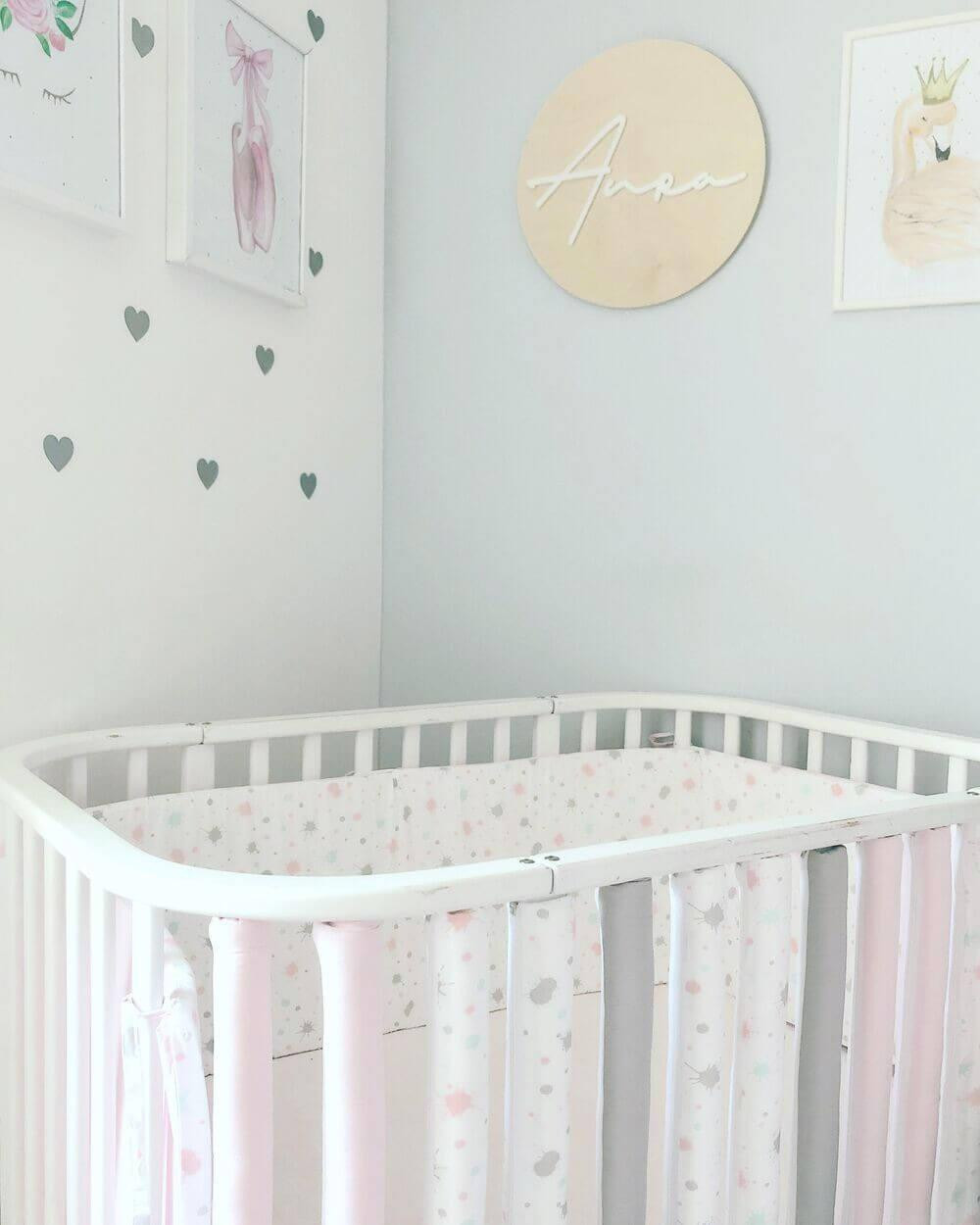 Protecții inteligente pătuț bebeluș Aura&Grey&Pink