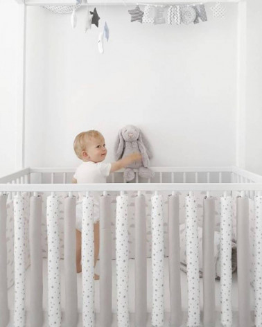 protecții inteligente pătuț bebelus Sky&Grey