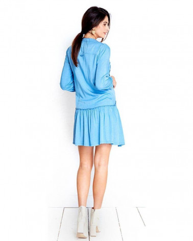 Rochie pentru gravide City Bleu