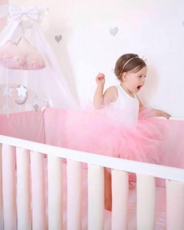Protecții inteligente pătuț bebelus roz