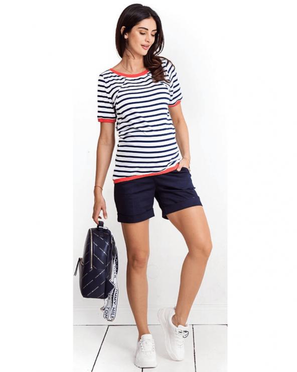 Pantaloni scurți gravide Summer navy Mama Boutique - 1