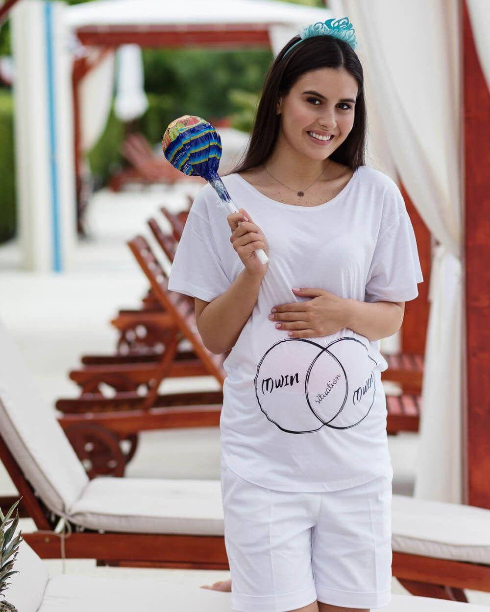 Tricou pentru gravide cu gemeni