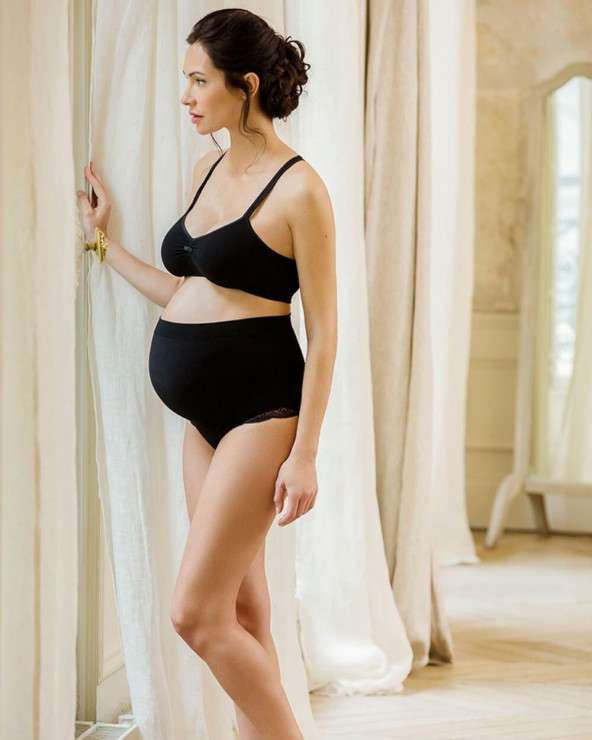 Chiloți pentru gravide Serenity negru Cache Coeur - 1